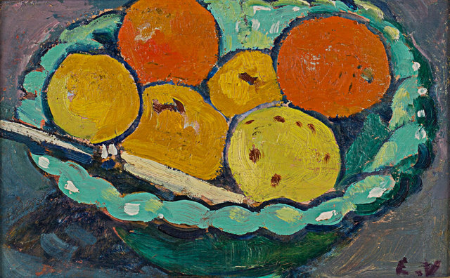 Louis Valtat, 'Coupe Verte, Orange et Citrons', 1909, Painting, Oil on canvas, Rosenberg & Co.