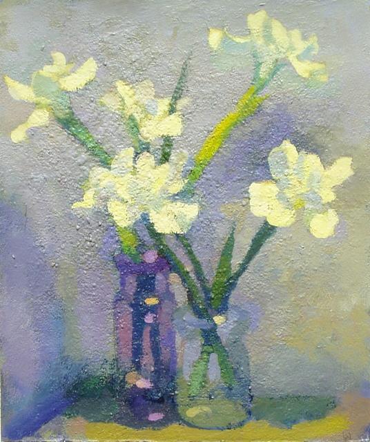 Don Wynn, 'Sandy's Iris', 2020, Painting, Acrylic, Keene Arts