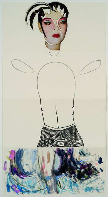 Sarah Charlesworth, Michael van Ofen, Tom Burr, and Laura Owens, 'Exquisite Corpse 92,' ca. 2011, Mana Contemporary