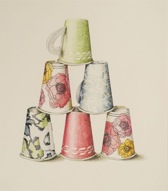 , '6 Mixed Paper Cups,' 1969, Allan Stone Projects