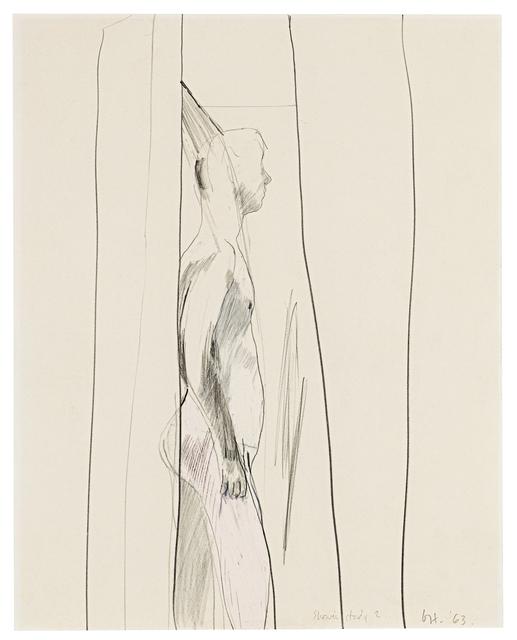 David Hockney, 'Shower Study II', 1963, DELAHUNTY