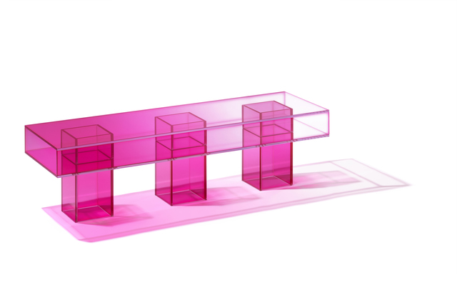 Studio BUZAO, 'NULL Hot Pink Bench', 2020, Design/Decorative Art, Laminated Glass, Gallery ALL