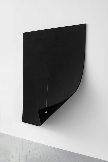 , 'Work on Felt (Variation 10) Black,' 2016, Dvir Gallery