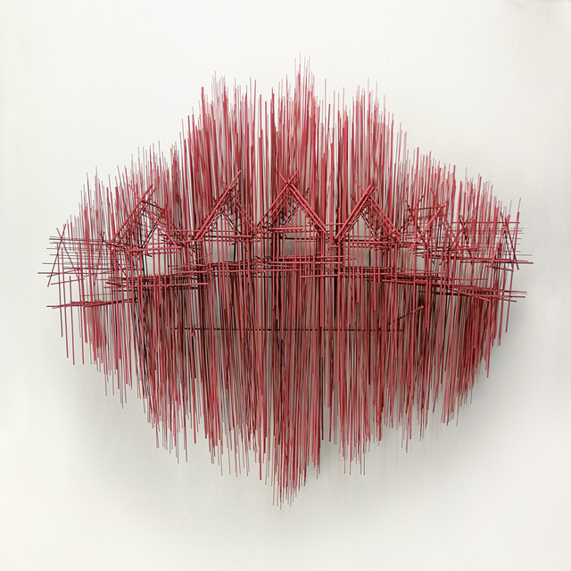 David Moreno (b.1978), 'Paisaje horizontal III', 2018, Sculpture, Steel, silver, red patina, N2 Galería