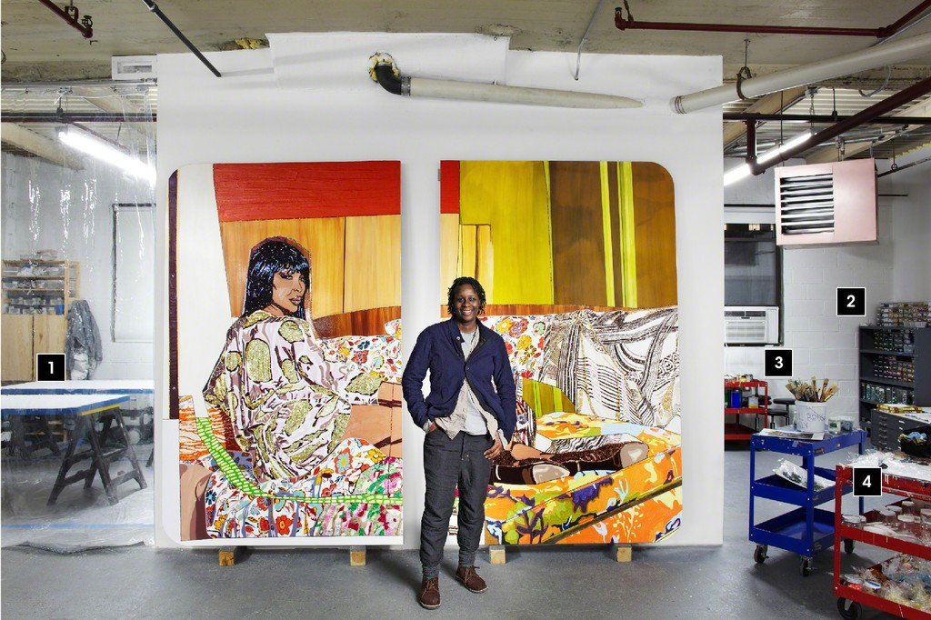 In the Studio with Mickalene Thomas