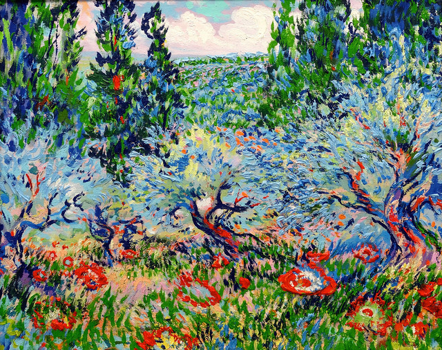 , 'Blue Olives and Red Poppies,' 2012, Sorelle Gallery Fine Art