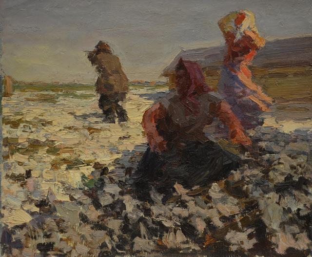 Nadezhda Eliseevna Chernikova, 'At the poultry farm', 1968, Surikov Foundation