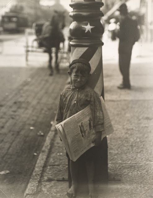 Lewis Wickes Hine, 'A Little Shaver, Indianapolis', 1908-printed ca. 1920, Indianapolis Museum of Art at Newfields