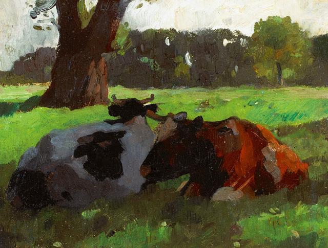 Thomas Herbst, 'Kühe im Schatten (Cows in the shade)', ca. 1900, Galerie Herold