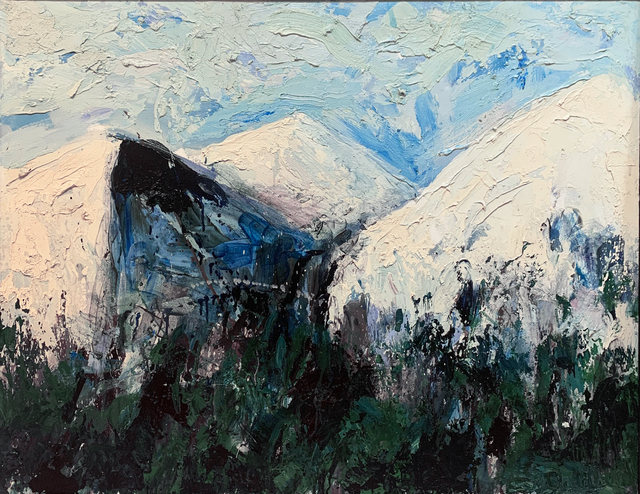 Theodore Waddell, 'Deer Creek Mountain', 1997, Painting, Oil, encaustic on canvas, Visions West Contemporary