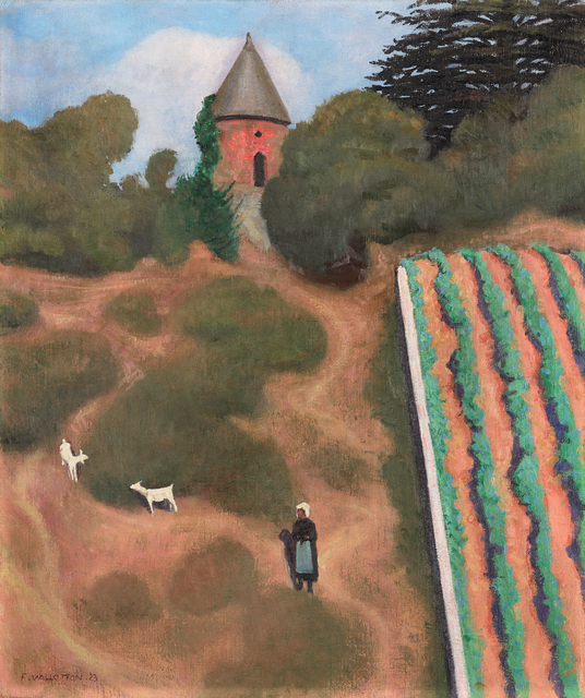 ", '""Côte Roussie et Tourelle, Champtoceaux"" -   Scorched Hillside with Tower near the Village of Champtoceaux,' 1923, Daxer & Marschall"