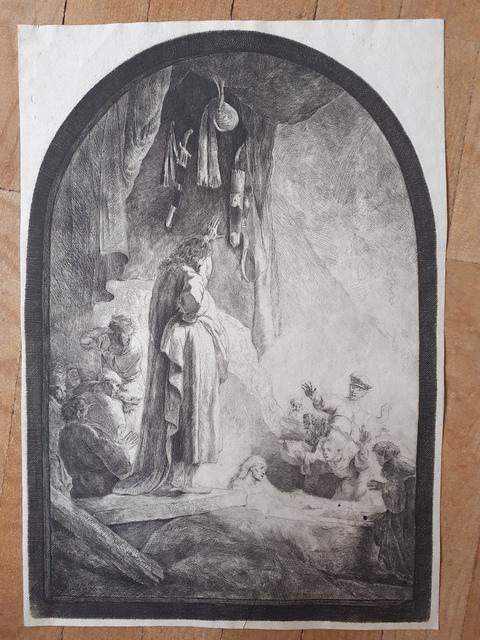 Rembrandt van Rijn, 'The Raising of Lazarus', 1632, Print, Etching with burin, Sylvan Cole Gallery