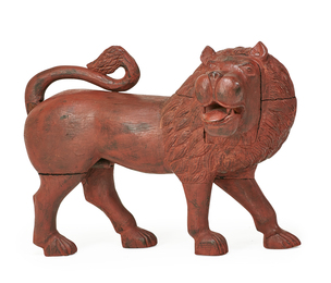 Masterfully Carved Male Lion
