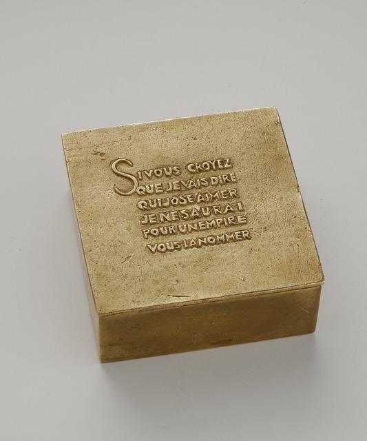, 'Si vous croyez..., Box,' 1942-1950, Maison Gerard