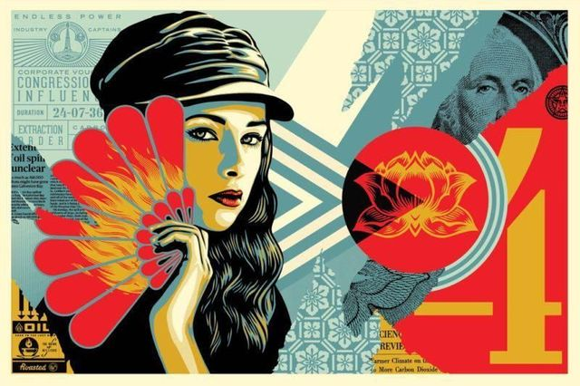 Shepard Fairey, 'Fan the Flames', 2019, AYNAC Gallery