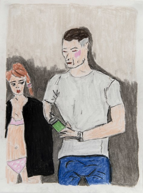 Soufiane Ababri, 'Bedwork',  2018 , Drawing, Collage or other Work on Paper, Color pencil on paper, THE PILL®