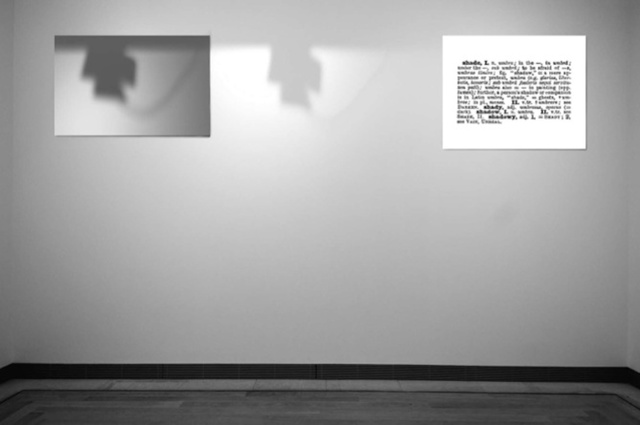 Joseph Kosuth, 'One and Three Shadows (Ety./Hist.]', 1965, Installation, 2 black and white photographs mounted on board, one shadow, Mireille Mosler Ltd.