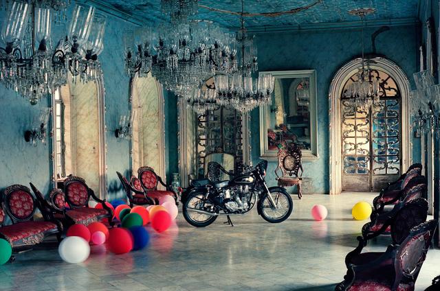Tim Walker, 'Motorbike in Ballroom, Goa, India', 1999, Michael Hoppen Gallery