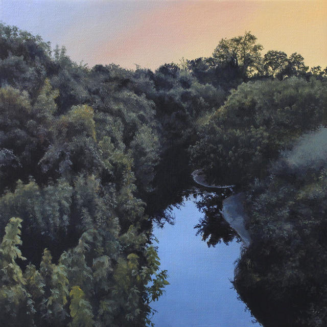 Nate Burbeck, 'Big Bear Creek, Grapevine, Texas', 2017, Painting, Oil on canvas, Friends Seminary Benefit Auction