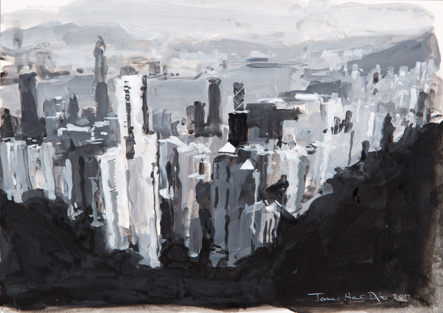 , 'Hong Kong from The Peak, Study,' 2012, DELAHUNTY