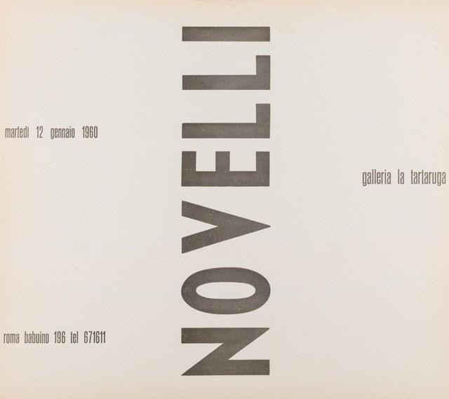 Gastone Novelli, 'Novelli', 1960, Drawing, Collage or other Work on Paper, Flyer, Finarte