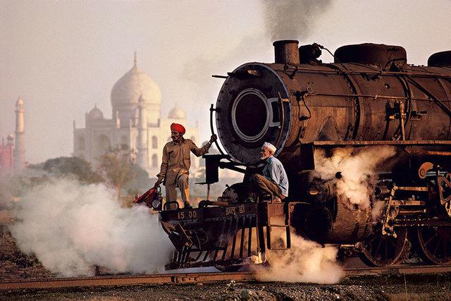 , 'TAJ AND TRAIN, AGRA, INDIA,' 1983, Huxley-Parlour