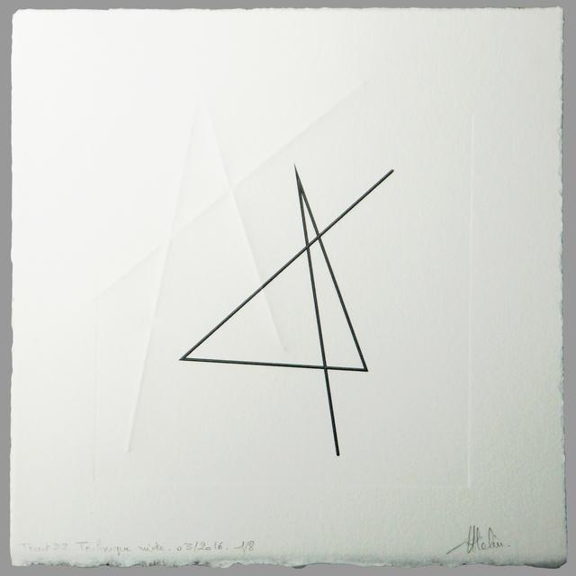 CHANTAL ATELIN, 'Trait 32', 2016, Galerie Marie-Robin