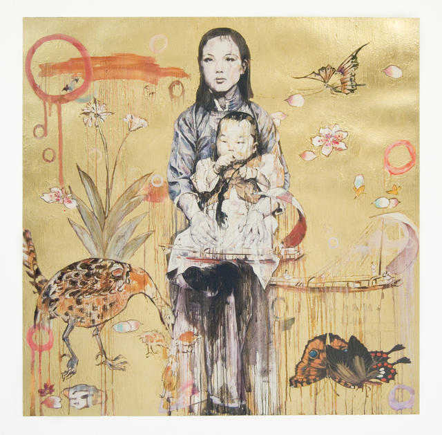 Hung Liu 刘虹, 'Mother and Child - Gold (3/9)', 2020, Print, Archival Pigment Print and Mixed Media, Gail Severn Gallery