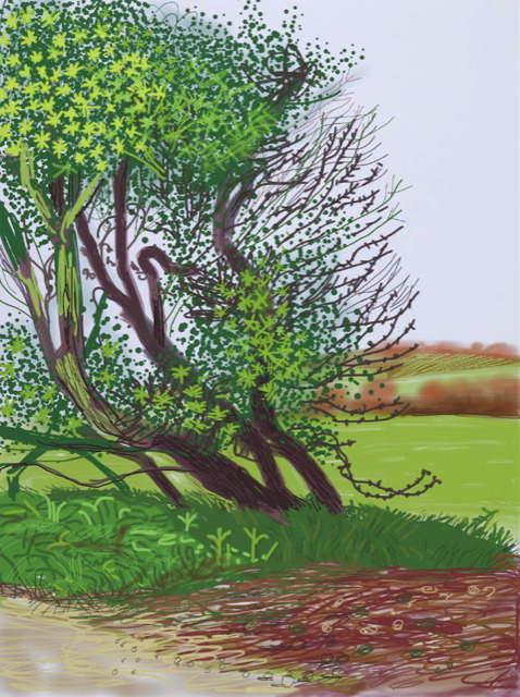 David Hockney, 'The Arrival of Spring in Woldgate, East Yorkshire in 2011 (twenty eleven) - 12 April No.1', 2011, Dallas Collectors Club