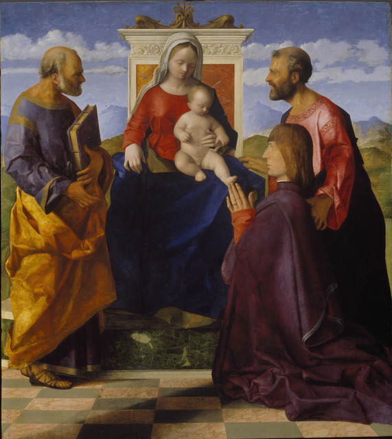 , 'Virgin and Child with Saint Peter, Saint Mark and a Donor,' 1505, Royal Academy of Arts