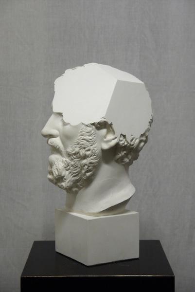 , 'Traccia IV, modified plaster bust of Settimio Severo,' 2014, OTTO ZOO