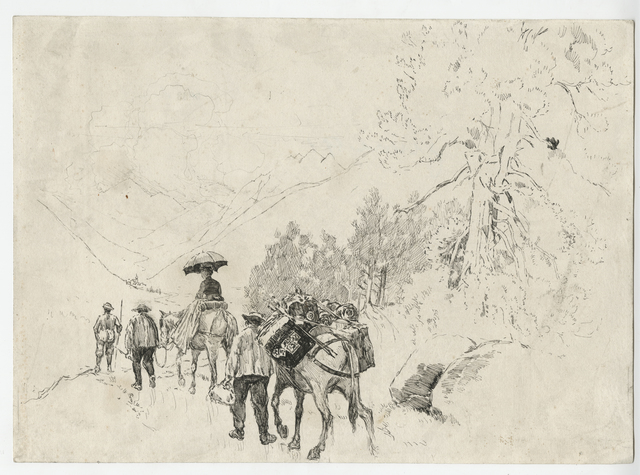 Joseph Pennell, 'Going to the Riffel [Switzerland]', 1889, Childs Gallery
