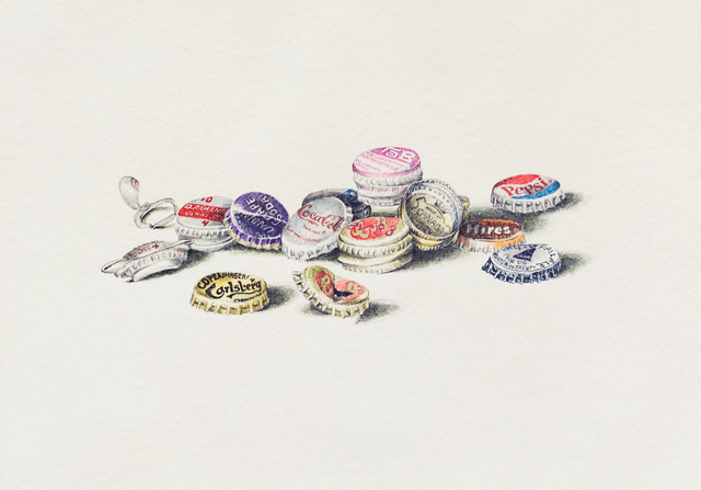, 'More Bottle Caps,' 1970, Allan Stone Projects