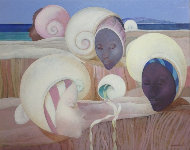 , 'Shell Faces,' 1988, Myriam Nader Haitian Art Gallery