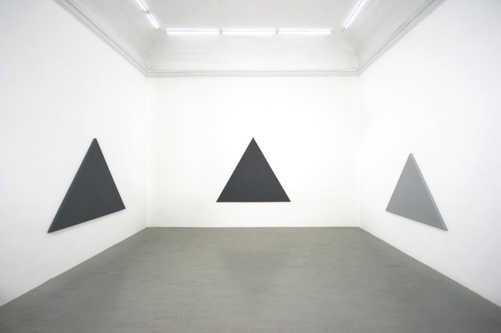 Alan Charlton - partial view of the exhibition - February 2013 - Galleria Alfonso Artiaco, Napoli