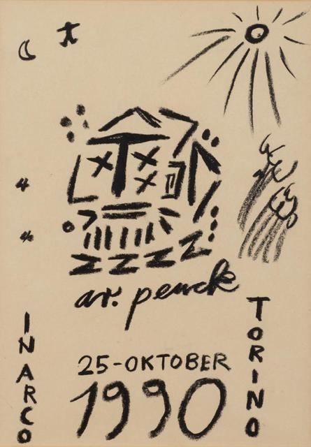 A.R. Penck, 'Senza Titolo', 1990, Itineris