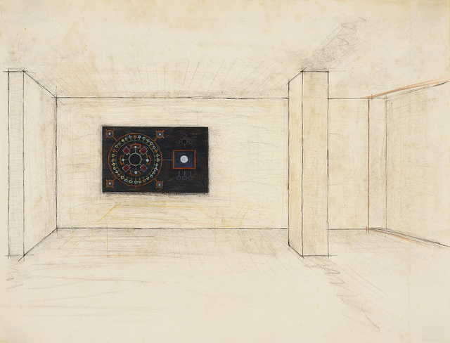 , '(Untitled - Study for an Astrological Mural),' 1967, Charles Nodrum Gallery