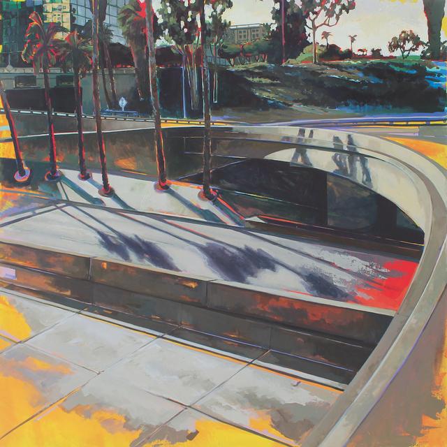 , 'Downtown, Around the Palms,' 2019, George Billis Gallery