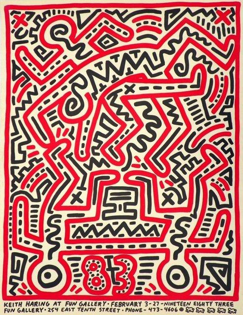 , 'KEITH HARING AT FUN GALLERY,' 1983, Galleria Alfieri