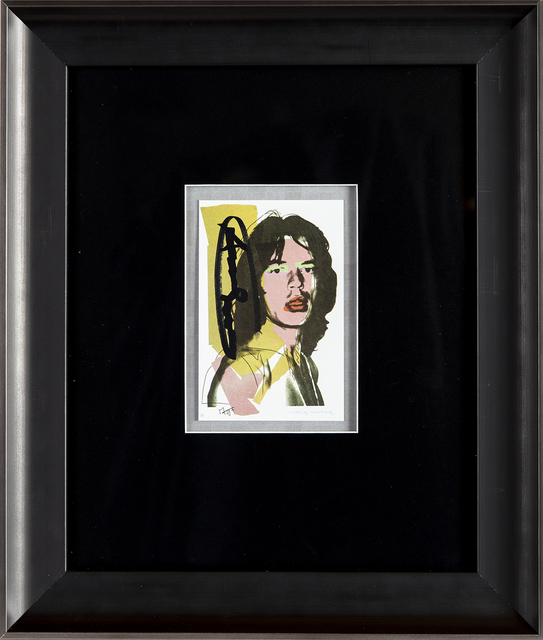 Andy Warhol, 'Mick Jagger FS.II.143 Gallery Invitation Announcement', 1975, Modern Artifact