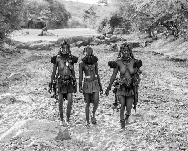 David Yarrow, 'Himba Girls', 2015, Photography, 315gsm Hahnemuhle Photo Rag Baryta Paper, Isabella Garrucho Fine Art