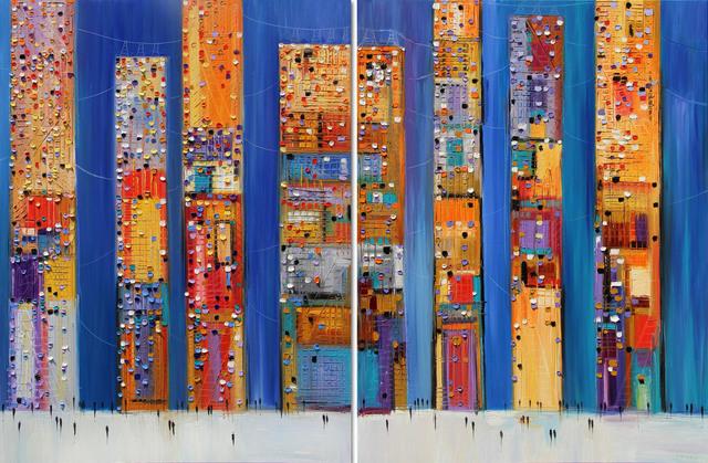 , 'Dowtown (diptych) ,' 2018, Artspace Warehouse