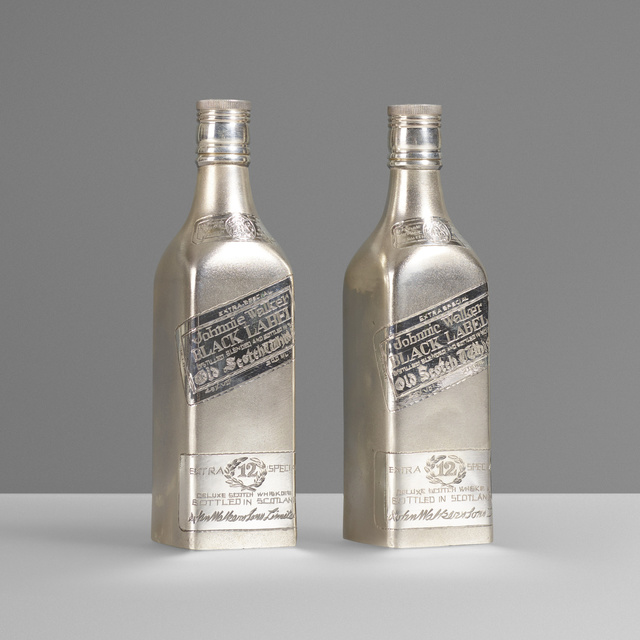 'Johnnie Walker decanters, pair', c. 1965, Design/Decorative Art, Sterling silver, Rago/Wright