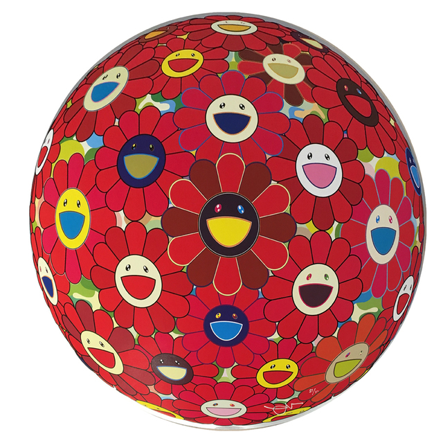 Takashi Murakami, 'Red Flowerball (3D)', 2013, Hamilton-Selway Fine Art Gallery Auction