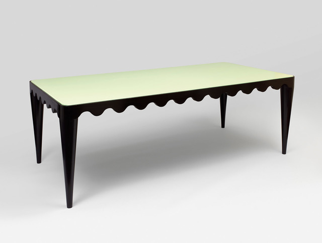 ", '""ondulation"" dining table,' ca. 1953, Galerie Jacques Lacoste"