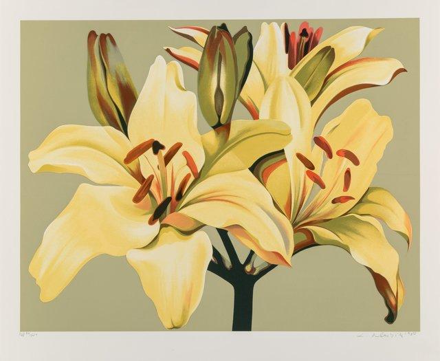Lowell Nesbitt, 'Lilies on Green', 1980, Heritage Auctions