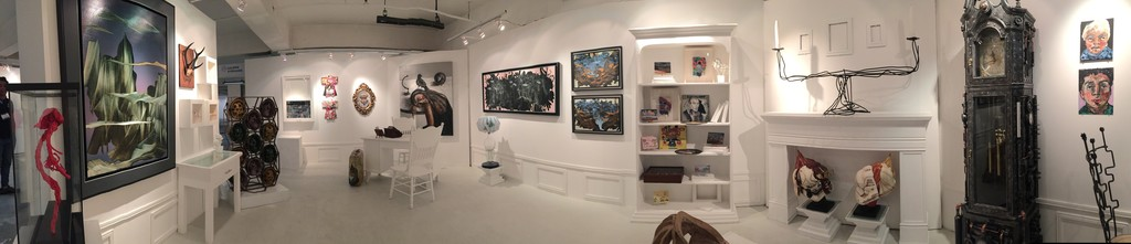 "A panoramic of Galerie Stephanie's booth at Art Fair Philippines, ""Curiosities."""