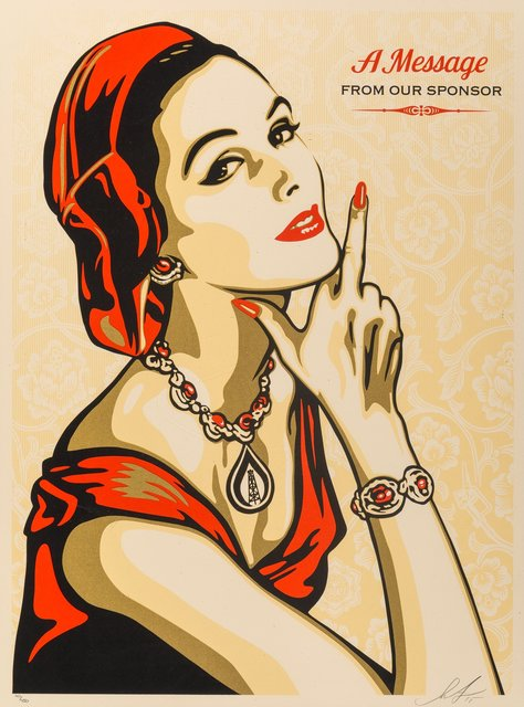 Shepard Fairey, 'A Message from Our Sponser', 2015, Heritage Auctions