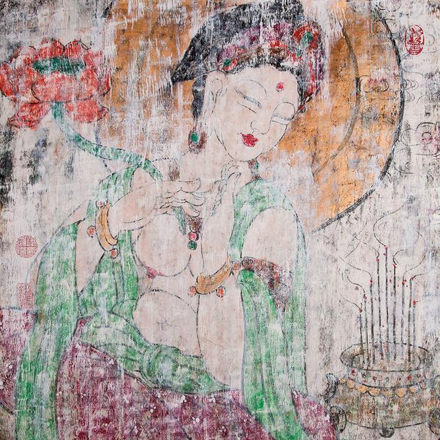 , '绿衣持莲观音Avalokitesvara With Lotus,' ca. 2016, Hangzhou Calligraphy and Painting Society