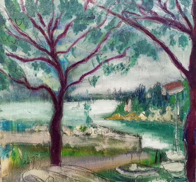 , 'Water paintings summer 2019 - plein air in situ paintings, Duino in rain...,' 2019, Noravision Gallery